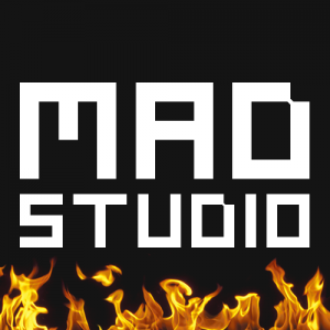Mad studio logo blac